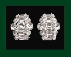Eisenberg Rhinestone Earrings
