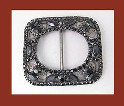 Juliana Black Rhinestone Belt Buckle
