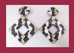 Richard Kerr Spectacular Gold, Silver and Black Rhinestone Earrings