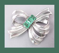 Marcel Boucher Parasina Sterling Bow Pin