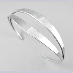 Ronald Hayes Pearson Modernist Sterling Cuff Bracelet
