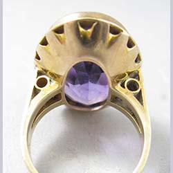 Victorian Amethyst 10k Gold Ring Back