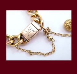 Victorian 14k Gold and Diamond Love Knot Bracelet Engraving